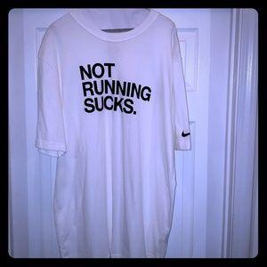 """Nike """"Not Running Sucks"""" tshirt"""